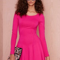 Nasty Gal Sympathy for the Devil Godet Dress - Fuchsia