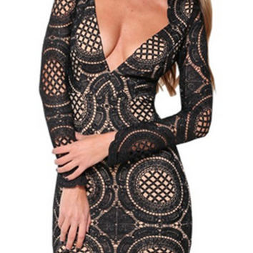 Love Lace and Doily Bodycon Dress