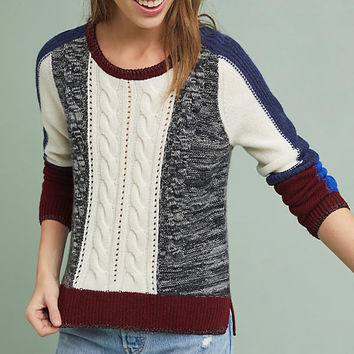 Rails Colorblocked Cable Pullover