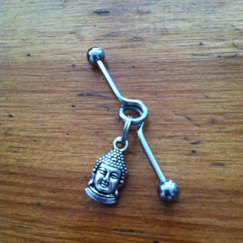 Industrial Barbell - Silver Buddha Industrial Barbell - Industrial Piercing
