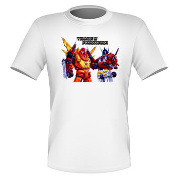 Brand New Fun Transformers T-shirt Optimus and Rodimus Prime Autobots All Sizes