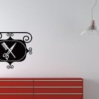 Wall Vinyl Decal Sticker Art Design Ancient Street Signboard of Hairdresser Beauty Saloon Room Nice Picture Decor Hall Wall Chu1209
