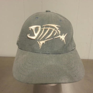 Vintage 90's Bonefish Grill Restaurant Dad Hat Leather Strap Back Gloomis