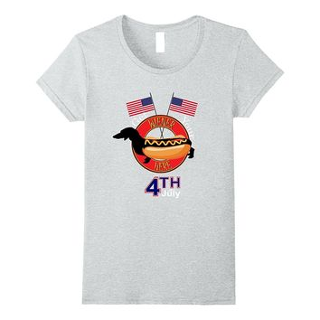 Funny Wiener Dog Hot Dog 4th of July USA T-Shirt
