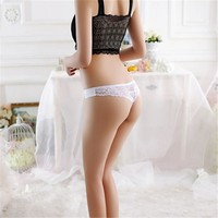 Size Women Sexy Underwear Transparent Hollow Women's Lace Panties Seamless Panty Briefs Intimates