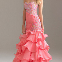 New Sexy Sweetheart Evening Dresses Beaded Long Party Formal Prom Gown*Custom