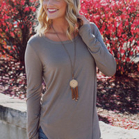 The Perfect Long Sleeve Top - Mocha