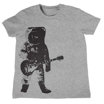 Kids ASTRONAUT Guitar T Shirt Boys Girls Shirt Kids Unisex Outer Space Planet Mars Music T Shirt Gifts For Kids Cool Kids T Shirt Birthday