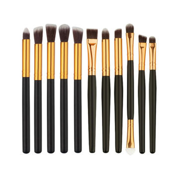 Beauty Girl 11pcs Makeup Brush Set tools Make-up Toiletry Kit Wool Make Up Brush Set Aug 12