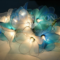 BLUE TONE FLOWER STRING FLORAL,PATIO,FAIRY,DECOR,TEEN GIRL ROOM,WEDDING LIGHTS
