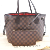 Auth Louis Vuitton Damier Neverfull PM Tote Bag N51109 LV 36653