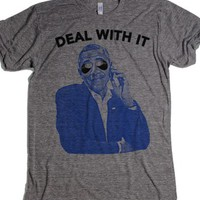 Obama Deal With It-Unisex Athletic Grey T-Shirt