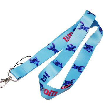 Brand New Disney Lilo and Stitch Blue Lanyard 1