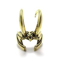 3D Realistic Loki Helmet Shaped Adjustable Ring in Shiny Gold | Avengers Themed Jewelry