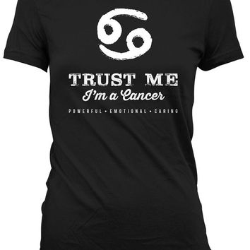 Cancer Shirt Astrology T Shirt Zodiac Gifts For Birthday Present Horoscope TShirt Bday T-Shirt Trust Me I'm A Cancer Mens Ladies Tee DAT-882