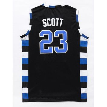 One Tree Hill Ravens Basketball Jerseys #23 Nathan Scott Black