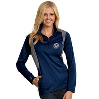 Antigua New York Mets Delta 1/4-Zip Pullover - Women's, Size: X LARGE (Blue)