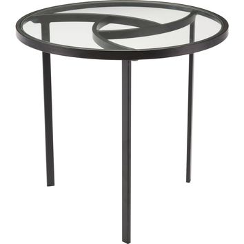 Black Asterisk End Table