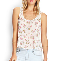 Crocheted Floral Tank Top
