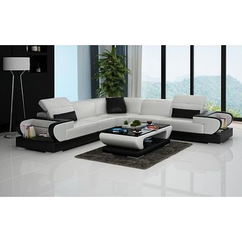 Luxury Gainsworth - L- Leather Lounge Set