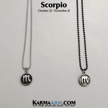 SCORPIO Necklace | Zodiac | Astrology Collection: Stainless Steel | Birth Sign Jewelry