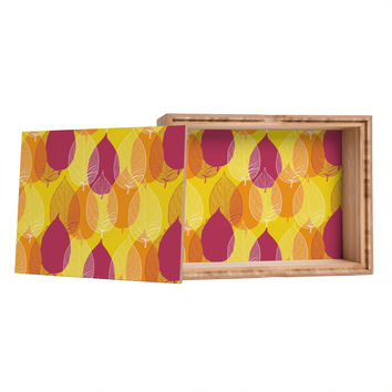 Aimee St Hill Big Leaves Yellow Jewelry Box