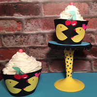 Pac Man Fever cupcake wrappers