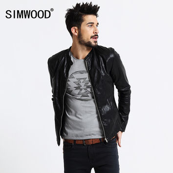 Mens Slim Fit Leather Motorcycle Jacket