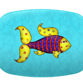 Colorful Fish Melamine Platter