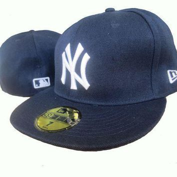 New York Yankees New Era Mlb Authentic Collection 59fifty Hats Blue White