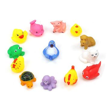 13-pc Rubber Squeeky Bath Toy