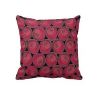 Rose Pattern Pillow in the Art Nouveau Style from Zazzle.com