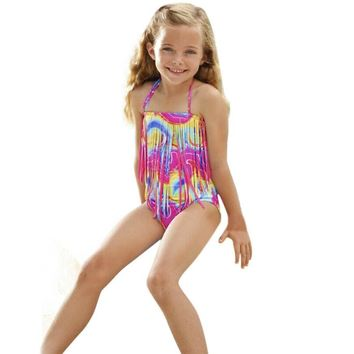 Girls One Piece Swimsuit - Free Shipping