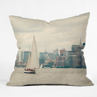 Catherine McDonald Sail NYC Outdoor Throw Pillow