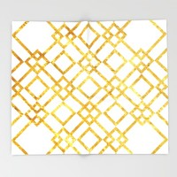 Golden Screen Throw Blanket by Miss L In Art