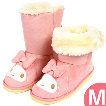 Had my melody Womens boots adult fact far boots Sheepskin boots M pink ☆ Sanrio ladies fashion accessories series ★ non-