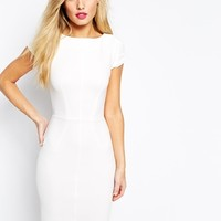 Closet Midi Pencil Dress With Pintuck Sleeve at asos.com