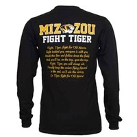 Mizzou JanSport Tiger Head Fight Song Black Crew Neck Shirt