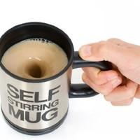 Automatic mixing cup coffee cup creative and practical (black)