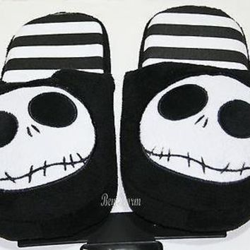 Licensed cool NEW The Nightmare Before Christmas JACK ADULT Slippers PLUSH HOUSE SHOES SMALL