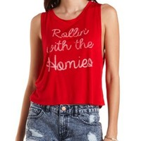 Rollin' with The Homies Tank Top by Charlotte Russe