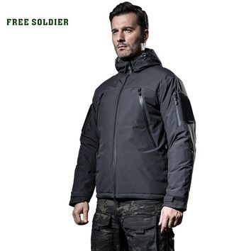 FREE SOLDIER Outdoor sports tactical men winter jackets warm thick fleece military cloth for camping hiking