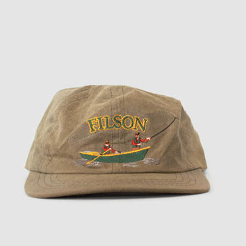 Vintage FILSON HAT / Embroidered Logo Tin Cloth Hunting Fishing CAP