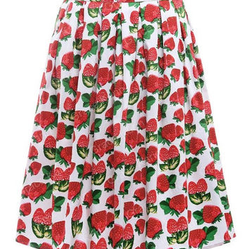 Womens faldas Summer Style american apparel retro Vintage Pleated 50s Skirts Pinup Cotton saia feminina print Skirt plus size