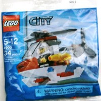 LEGO City Mini Figure Set 4900 Fire Helicopter - Bagged (34 pieces)