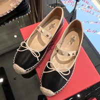 QIYIF VALENTINO word with single shoes black