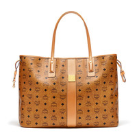Large Reversible Liz Visetos Shopper in Cognac by MCM
