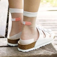 Transparent Band Aid Socks