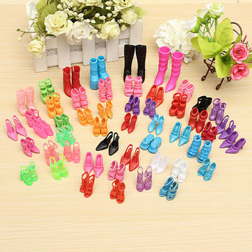 60 Pairs Trendy Mix Assorted Doll Shoes Multiple Styles Heels Sandals