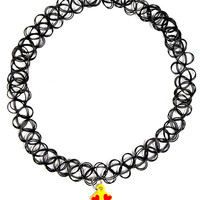 EMOJI TATTOO CHOKER